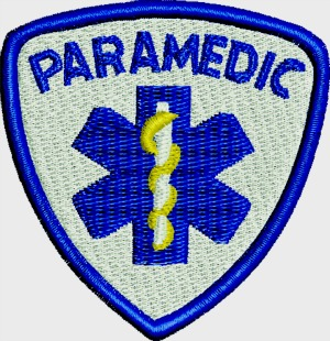 Paramedic Patch Machine Embroidery Design