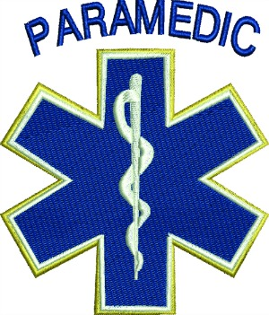 Paramedic Embroidery Design