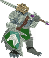 Paladin-Paladin, dungeon, dragons, warriors, games, figure, machine embroidery