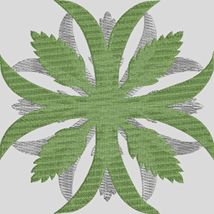 Palm delight-Quilts, Quilt embroidery, machine embroidery, Palm embroidery, Palms,