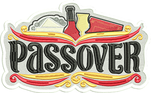 Passover Holiday-Passover, Holiday, Jewish, Judaism, Jewish celebration, Sacred holiday, machine embroidery, Moses