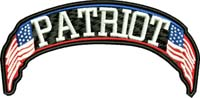Patriot-Patriot, USA, flag, machine embroidery, patches to make, motorcycle