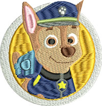 Paw Patrol Police-Paw Patrol embroidery, machine embroidery, Childrens embroidery, Paw Patrol, Paw Patrol machine embroidery, Paw Patrol Police
