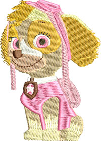 Paw Patrol Skye-Paw Patrol, Paw Patrol Skye, Skye, machine embroidery, embroidery