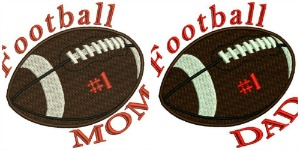 Football #1 Dad & Mom Machine Embroidery Designs