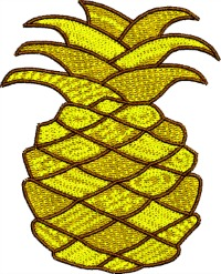 Pineapple-Pineapple embroidery, machine embroidery, embroidery designs, fruit embroidery,