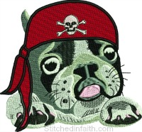 Pirate Dog-Pirate dog, Dog embroidery, machine embroidery, embroidery designs, Pirate dog embroidery, Pirate Dog machine embroidery, dog embroidery designs,