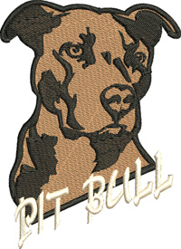 Pit Bull-PIT BULL, PIT BULL EMBROIDERY, PIT BULL DOG, DOG EMBROIDERY, PETS EMBROIDERY, MACHINE EMBROIDERY