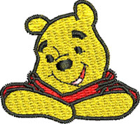 Pooh Pocket Topper-Pooh, Winnie the pooh, pocket toppers, machine embroidery
