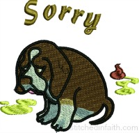 Poopy Puppy-Puppy embroidery, dog embroidery, doggie embroidery, machine embroidery, animal embroidery, stitchedinfaith.com, dogs embroidery,