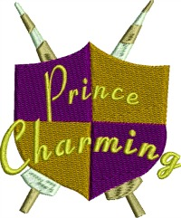 Prince Charming Coat of Arms-Prince charming prince coat of arms fairy tales machine embroidery embroidery stitchedinfaith.com