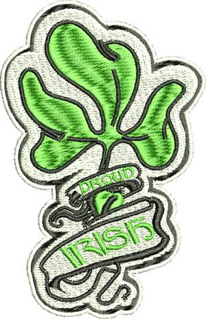 Proud Irish-Irish,Proud, Ireland, machine embroidery, Proud Irish, Irish embroidery