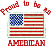 Proud to be an American-American Proud to be an American American flag stitchedinfaith.com America machine embroidery