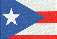 Puerto Rico flag-Puerto Rico, Flag, machine embroidery, flags