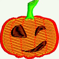 Pumpkin Smirk-Pumpkins pumpkins machine embroidery embroidery childrens embroidery Halloween Thanksgiving stitchedinfaith.com