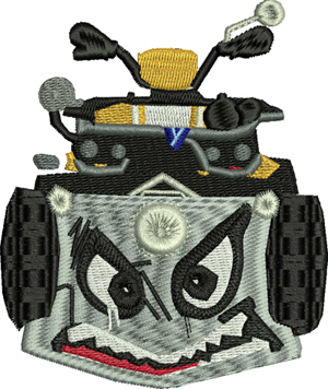 Quadcrasher-Quad,crasher,games,machine embroidery,fort nite, vehicle