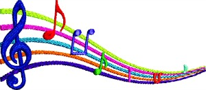 Music Rainbow  Scale-Machine embroidery music scale rainbow music scale music