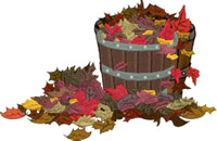 Raking leaves-Leaves, Fall,basket,seasons,falling leaves,machine embroidery, embroidery, stitchedinfaith,
