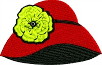 Red hat yellow rose bonnet