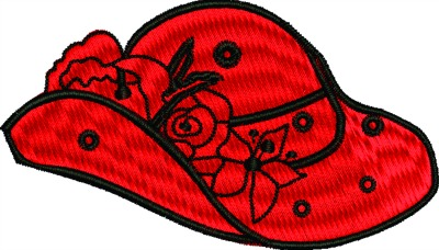 Red rose hat-Red hat hat rose hat machine embroidery machine embroidery designs hats stitchedinfaith.com