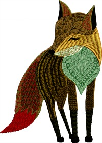 Red tail Fox-Fox red tail fox animals machine embroidery embroidery foxes stitchedinfaith.com