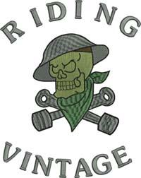 Riding vintage-Riding, motorcycle, bike, vintage, biker, machine embroidery