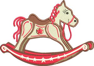 Rocking Horse-Rocking, Horse, toy, Christmas, machine embroidery, Horsey