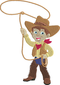 Rodeo Boy-Rodeo, Rodeo boy, machine embroidery, embroidery