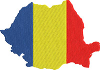 Romania Country Flag-Romania, Flag, Country, machine embroidery, Romania flag