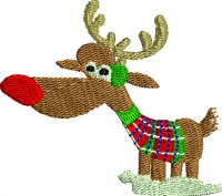 Rudolph-Rudolph machine embroidery ChristmasChristmas embroidery Rudolph embroidery stitchedinfaith.com