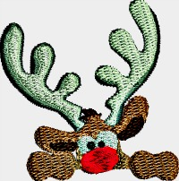 Rudolph Peek a boo-Rudolph the red nose reindeer Rudolph pocket embroiderypocket embroidery Christmas stitchedinfaith.com