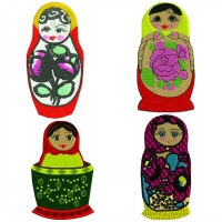 Russian Nesting dolls set 1-Russian nesting dolls nesting dolls nesting toys russian toys stitchedinfaith.com machine embroidery