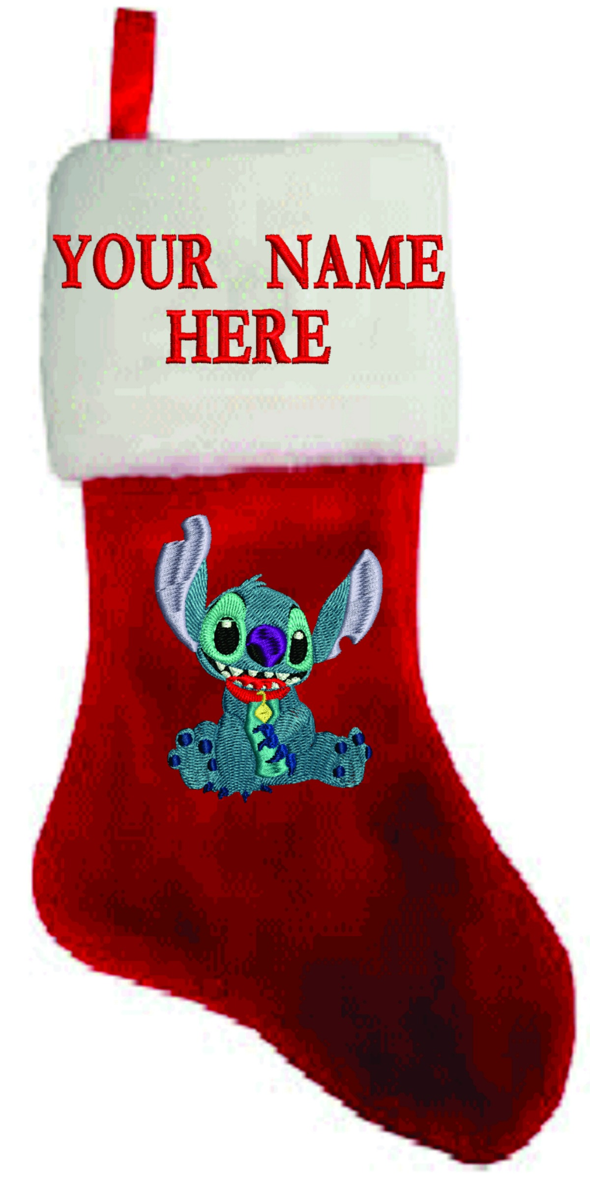 personalized stitch embroidered christmas stocking