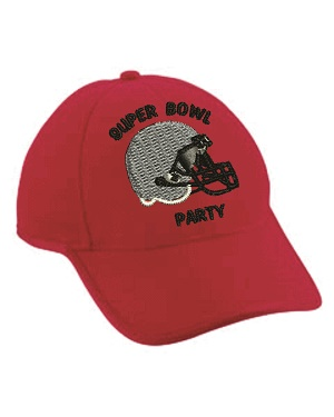 Football Super Bowl Party Embroidered Hats