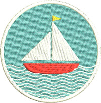 Sailboat-Machine embroidery, sailboat, embroidery, sailboat nautical embroidery ,sailboat embroidery, machine embroidery, boats