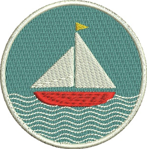 Sailboat Patch Or Logo