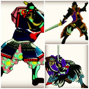 Samurai Warriors Set-SAMURAI SAMURAI WARRIORS WARRIORS MACHINE EMBROIDERY EMBROIDERY SETS