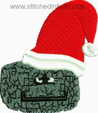 Santa coal-Santa clause santas coal coal christmas coal machine embroidery embroidery stitchedinfaith.com coal in stocking