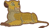 Sarabi-Sarabi, machine embroidery, lion, king, embroidery