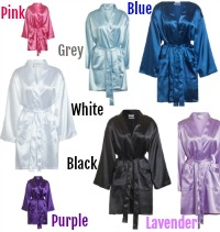 Embroidered Satin Robes
