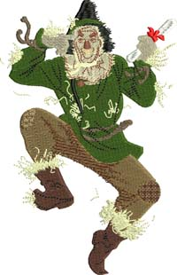 Scarecrow-Scarecrow, Wizard of oz. machine embroidery, Scarecrow embroidery