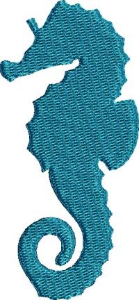 Blue Seahorse-Seahorse life like seahorse machine embroidery sea life sea horse embroidery stitchedinfaith.com Blue Seahorse