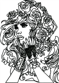 Shes Pretty-Girl, machine embroidery, pretty, lady, steam punk, lovely, lady