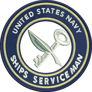Ships serviceman-Navy, Ships serviceman, Military,Armed forces, US Navy, machine embrodiery