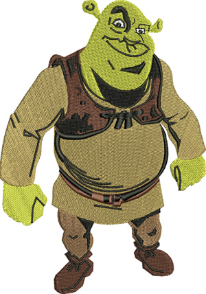 Shrek-Shrek, machine embroidery, children, kids,