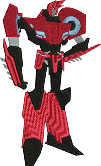 Sideswipe-sideswipe, transformers, machine embroidery, toy, action figures