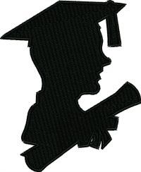 Silhouette Graduate-Graduate grad silhouette silhouettes machine embroidery stitchedinfaith.com school