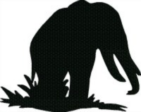 Silhouette Black Elephant-ELEPHANT SILHOUETTE ANIMAL