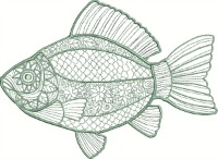 Silver Art Fish-Fish embroidery, Fish machine embroidery, Silver Art fish, sea life embroidery, sea life machine embroidery, Machine embroidery, Machine embroidery designs, stitchedinfaith.com, embroidery