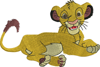 Simba-Simba, lion, king, machine embroidery, embroidery, movie